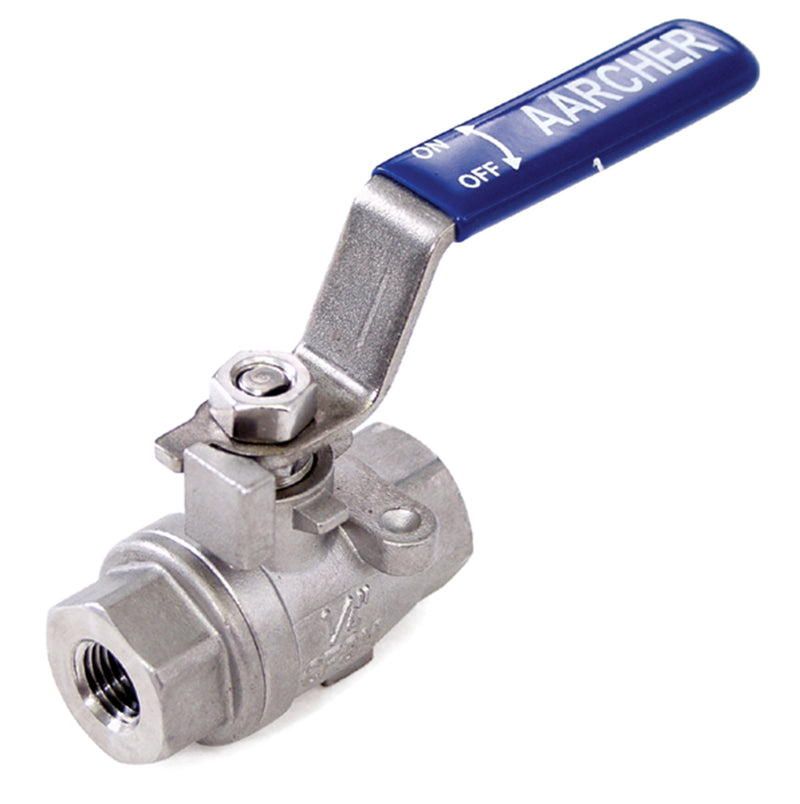 BALL VALVE, SS 1-2' FPT 2000PS