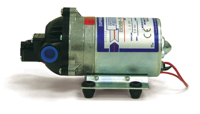 PUMP,DBL HD 12VDC 45PSI 7GPM W