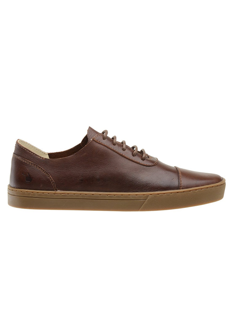 Sneaker Female Hyams Leather Shoelaces Biodegradable Brown