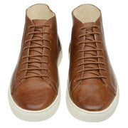 Boot Coturno Male Mission Caramel Leather Shoelaces