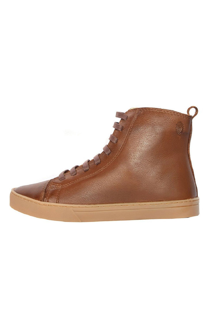 Boot Coturno Women Boot Use Caramel Leather Shoelaces