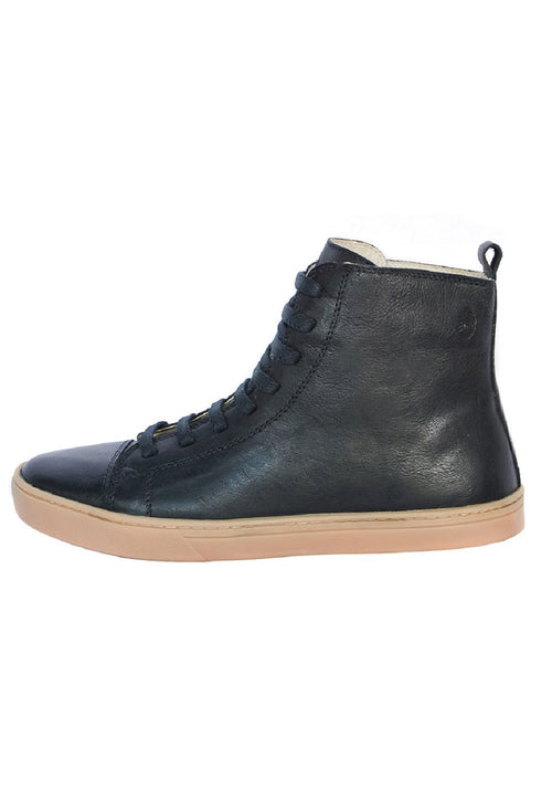 Coturno Women Boot boot uses Shoelaces Black Leather