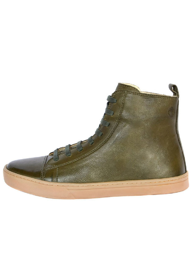 Coturno Boot Women Boot Leather Uses Green Shoelaces