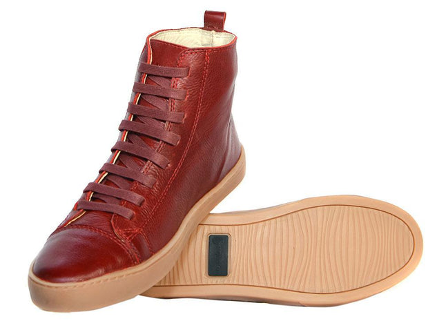 Coturno Boot Women Boot Use Red Leather Shoelaces