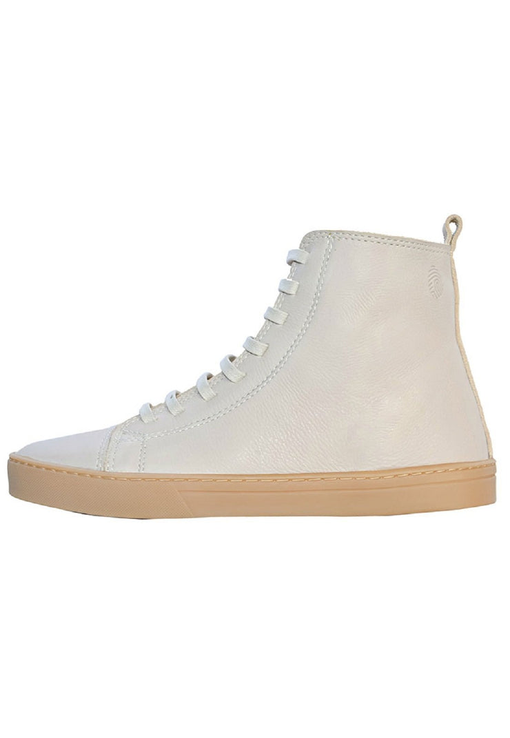 Coturno Boot Women Boot Use Leather Shoelaces white