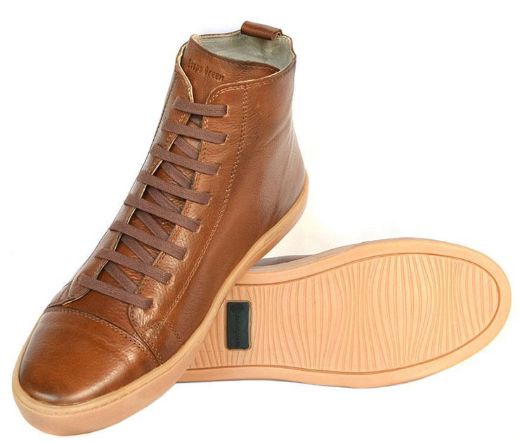 Boot Coturno Male Boot Use Leather Shoelaces Biodegradable Caramel