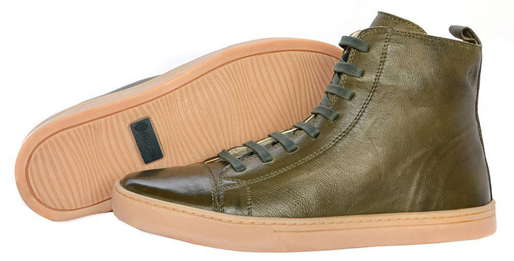 Boot Coturno Male Boot Shoelaces Use Biodegradable Green Leather