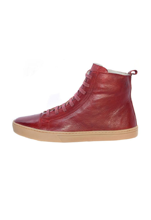 Boot Coturno Male Boot uses Shoelaces Leather Biodegradable Red