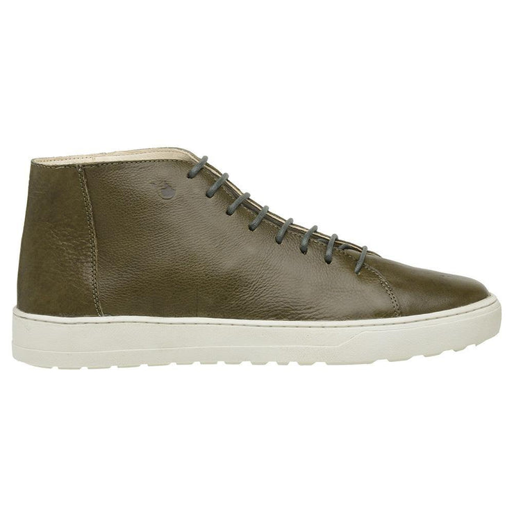 Boot Coturno Male Leather Mission Green Shoelaces