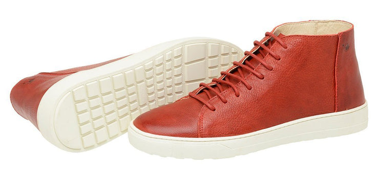 Boot Coturno Male Mission Red Leather Shoelaces