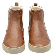 Boot Women Boot Leather Elastic Biodegradable Caramel