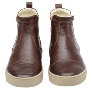 Boot Women Boot Leather Elastic Biodegradable Brown