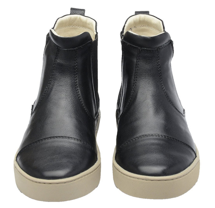 Boot Women Boot Leather Elastic Biodegradable Black