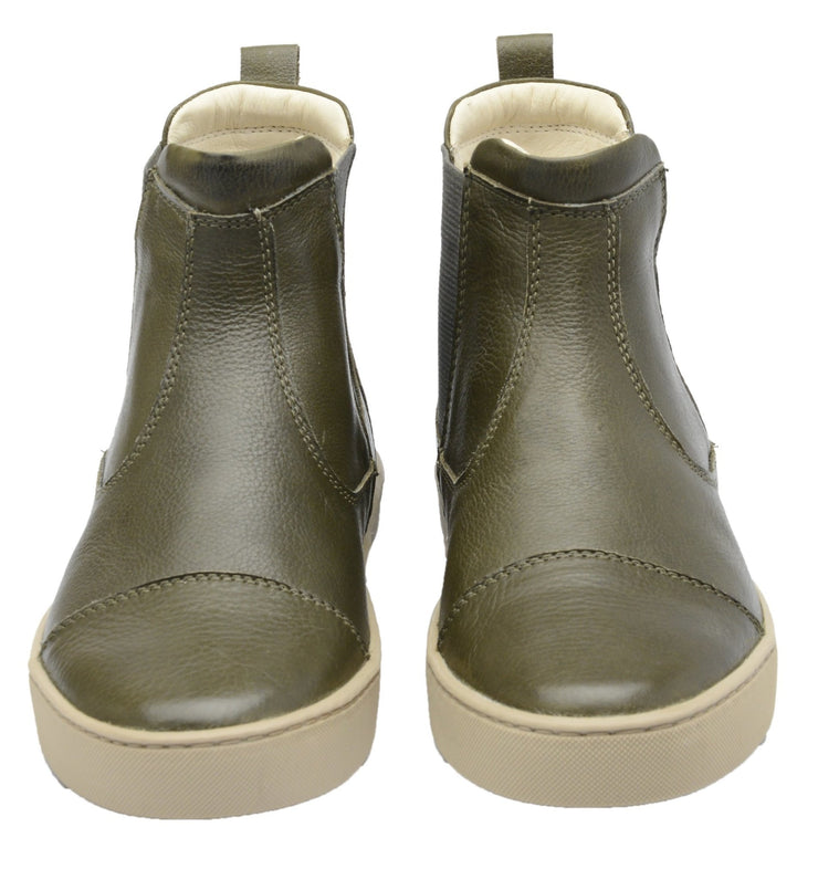 Boot Women Boot Leather Elastic Biodegradable Green