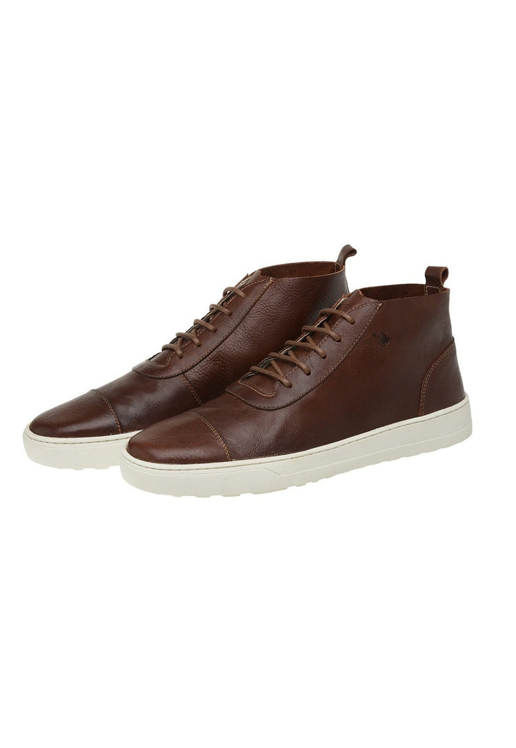 Boot Male Bells Leather Shoelaces Biodegradable Casual Mahogany
