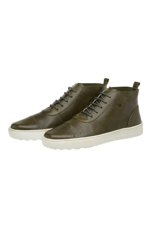 Boot Male Bells Leather Shoelaces Biodegradable Casual Green