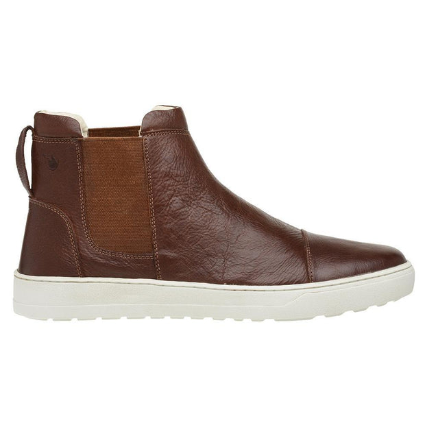 Male Leather Boot Lancelin Elastic Biodegradable Casual Brown