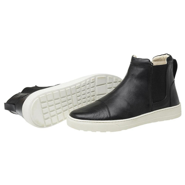 Male Leather Boot Lancelin Elastic Biodegradable Casual Black
