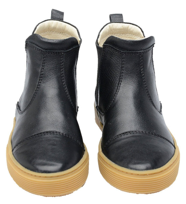 Boot Sneaker Leather Chelsea Sustainable Child Resistant Black