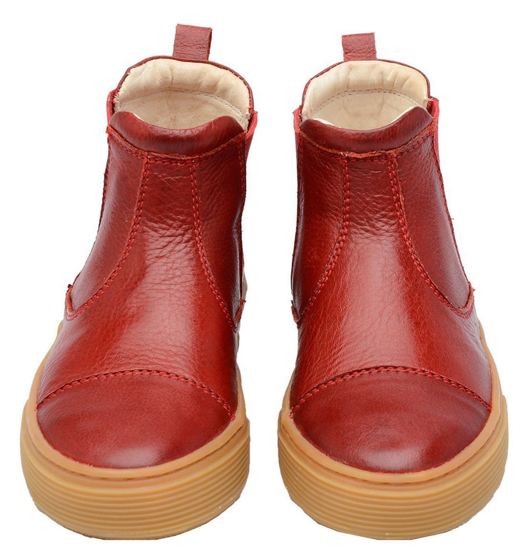 Boot Sneaker Leather Chelsea Sustainable Child Resistant Red