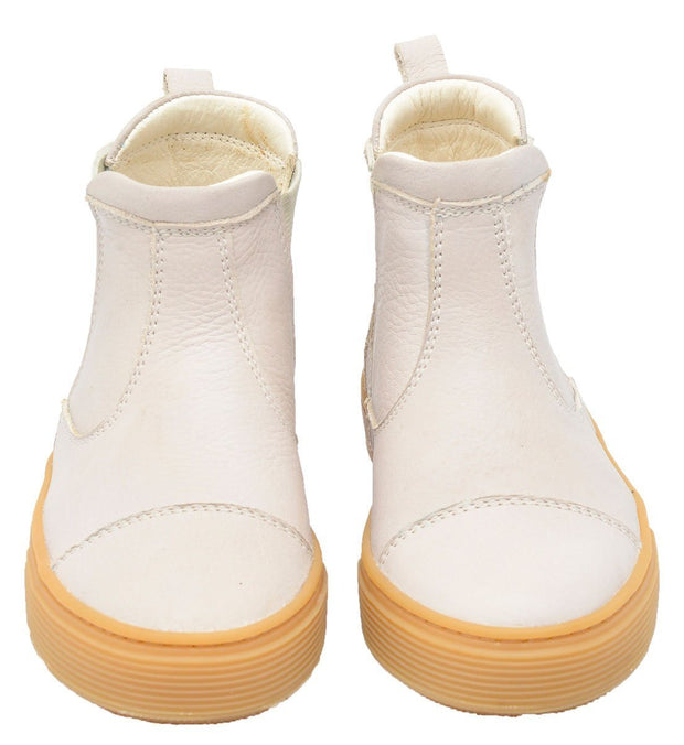 Boot Sneaker Leather Chelsea Sustainable Child Resistant White