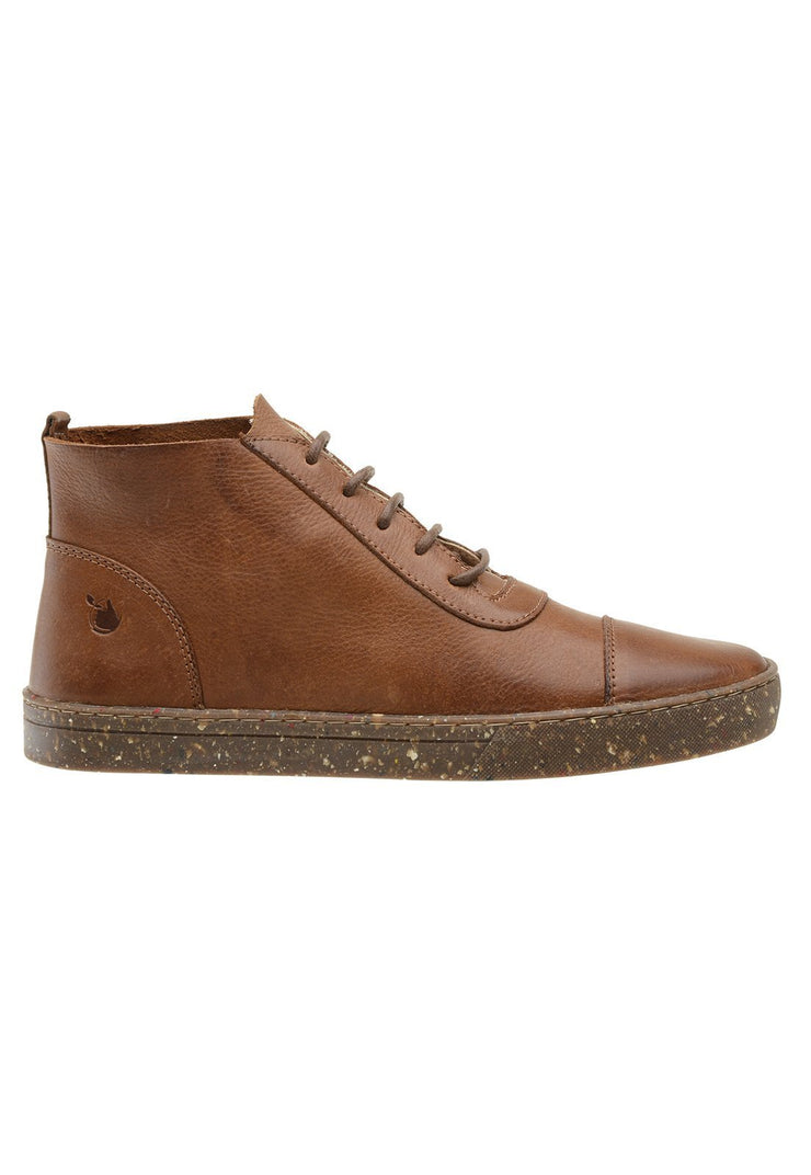 Sneaker Female Bells Leather Pipe Down Caramel