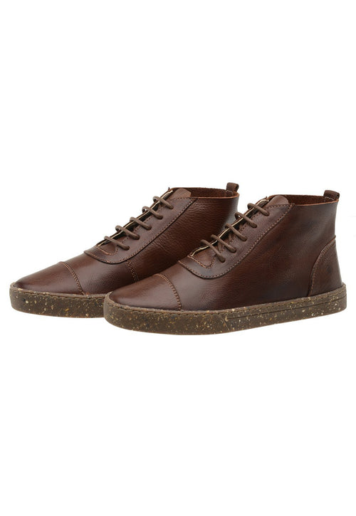 Sneaker Female Bells Leather Upper Low Brown