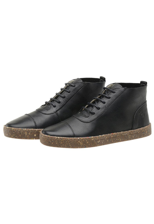 Sneaker Female Bells Leather Cano Low Black