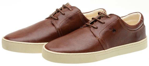 Sneaker Female Bondi Leather Shoelaces Biodegradable Casual Brown