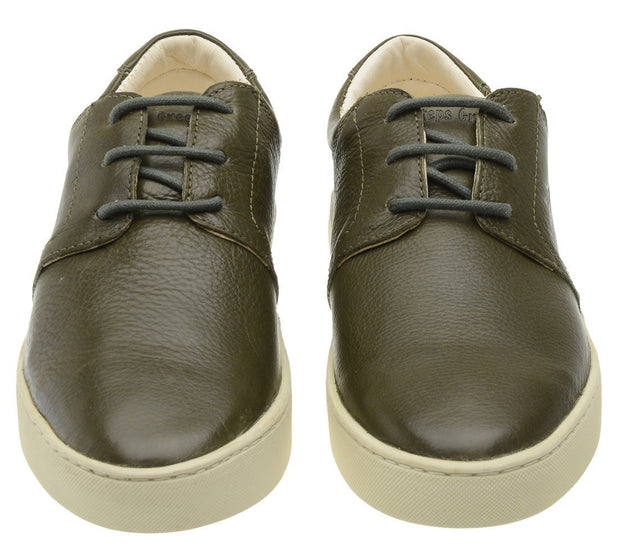 Sneaker Female Bondi Leather Shoelaces Biodegradable Casual Green