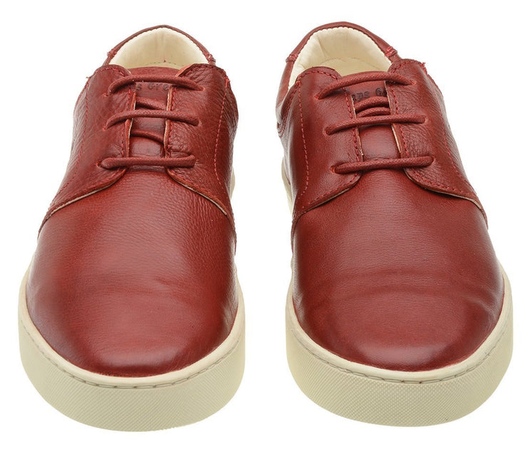 Sneaker Female Bondi Leather Shoelaces Biodegradable Casual Red