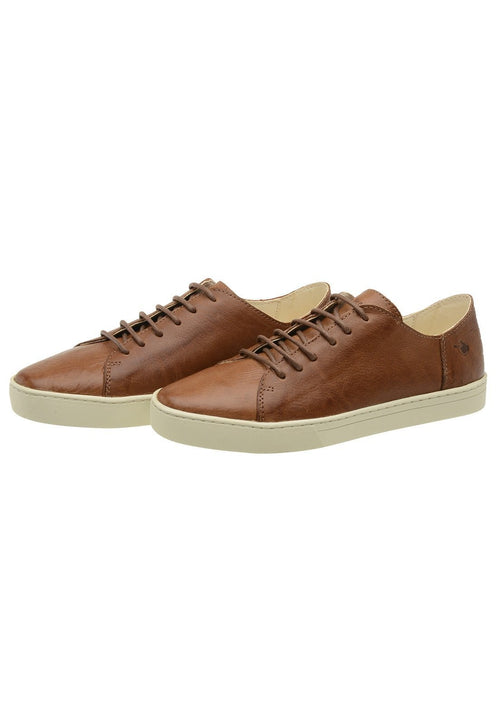 Sneaker Female Byron Leather Shoelaces Biodegradable Casual Caramel