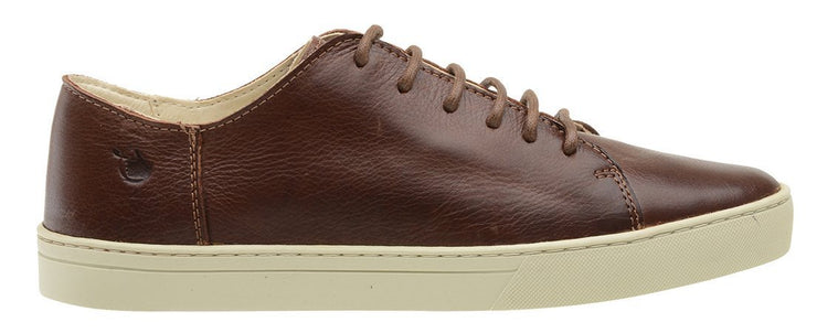 Sneaker Female Byron Leather Shoelaces Biodegradable Casual Brown
