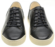Sneaker Female Byron Leather Shoelaces Biodegradable Casual Black