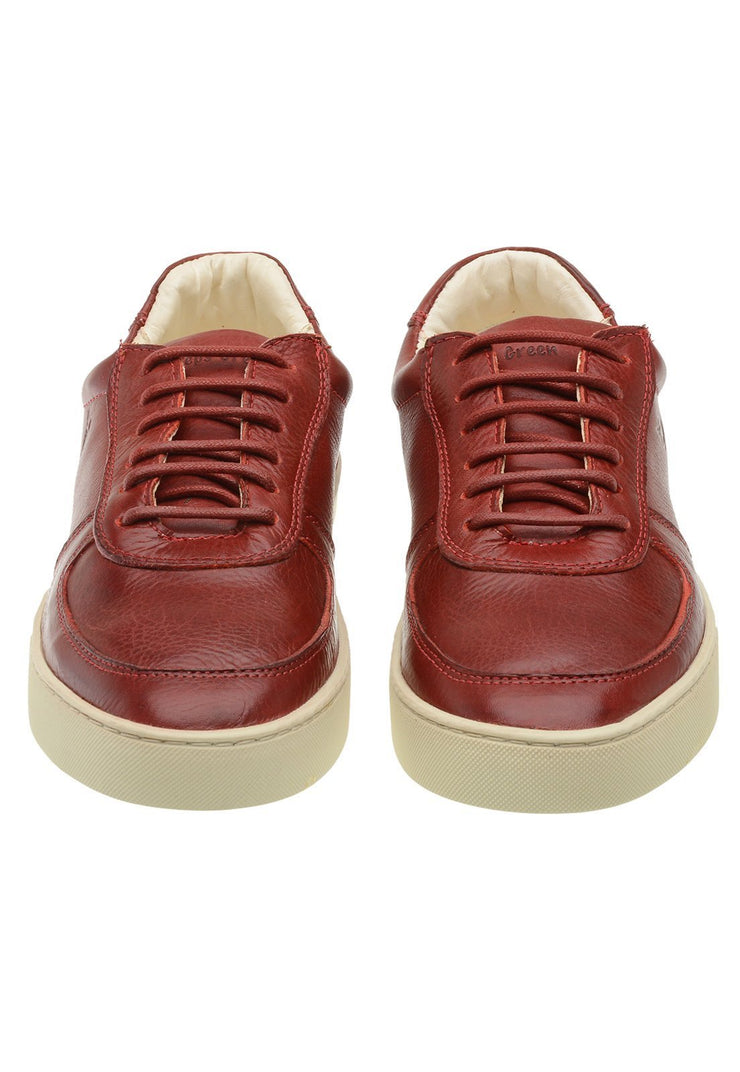 Sneaker Female Cable Leather Shoelaces Biodegradable Red