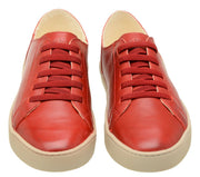 Sneaker Female Shoe Leather Biodegradable Easy Red
