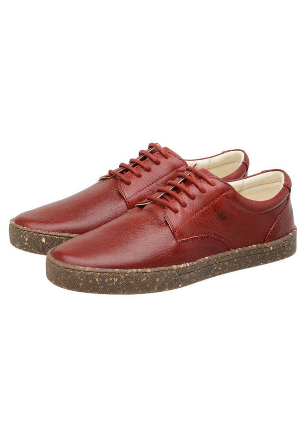 Sneaker Female Gold Coast Leather Biodegradable Red