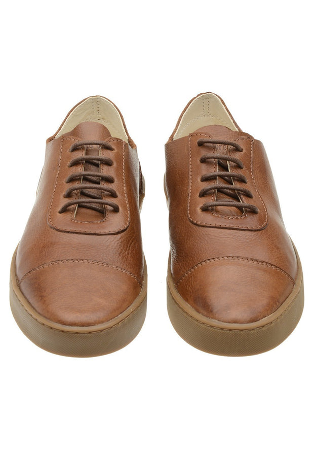 Sneaker Female Hyams Leather Shoelaces Biodegradable Caramel