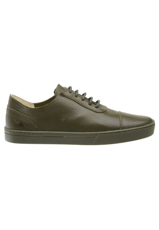 Sneaker Female Hyams Leather Shoelaces Biodegradable Green