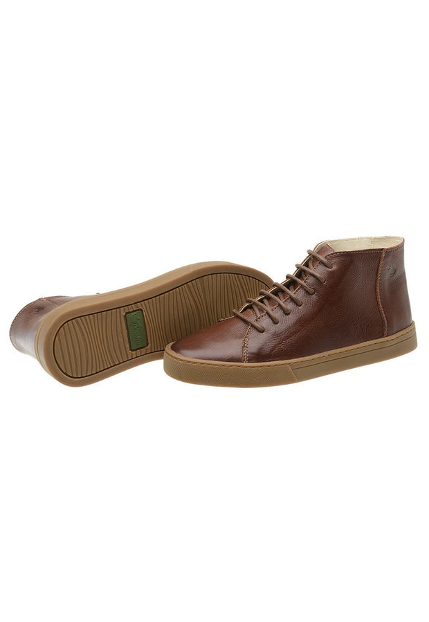 Sneaker Female Mission Leather Cano Low Biodegradable Brown