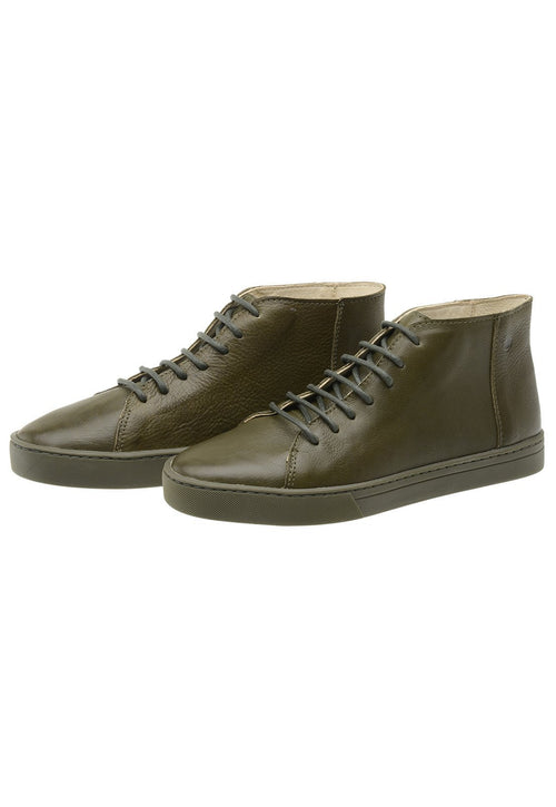 Sneaker Female Mission Leather Cano Low Biodegradable Green