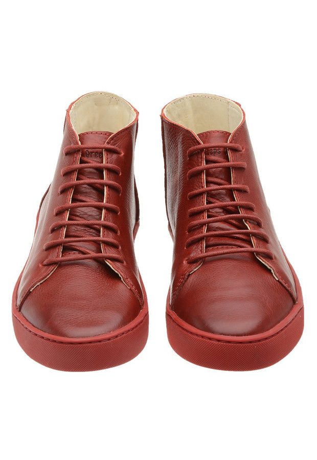 Sneaker Female Mission Leather Cano Low Biodegradable Red