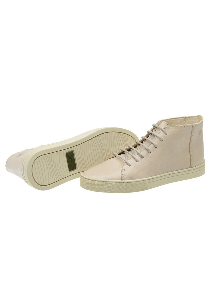 Sneaker Female Mission Leather Cano Low Biodegradable white