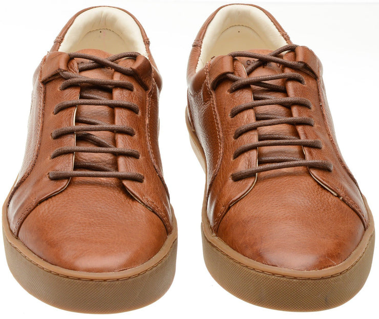 Sneaker Female Palm Leather Shoelaces Biodegradable Casual Caramel