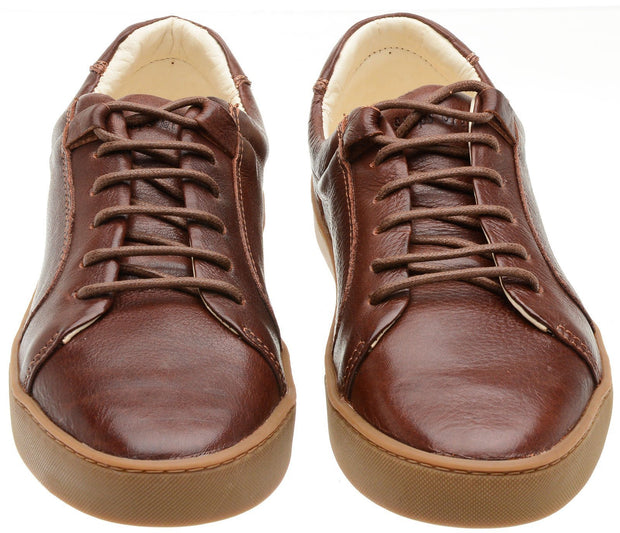 Sneaker Female Palm Leather Shoelaces Biodegradable Casual Brown