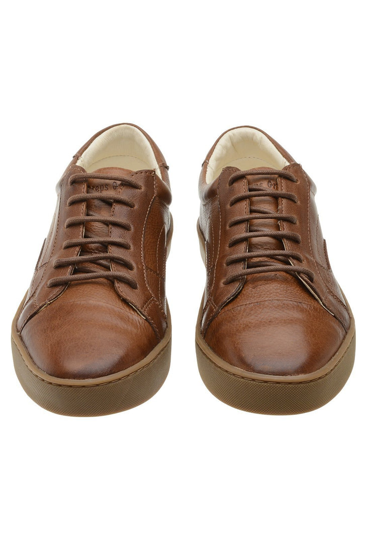 Sneaker Female Squeaky Leather Biodegradable Caramel