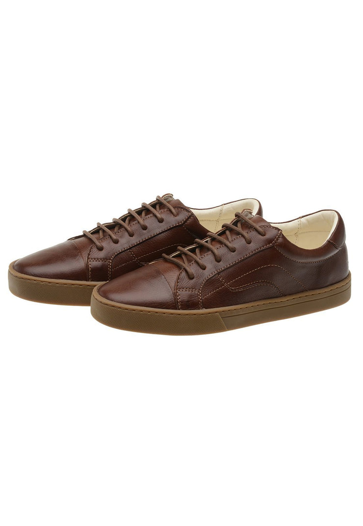Sneaker Female Squeaky Leather Biodegradable Brown