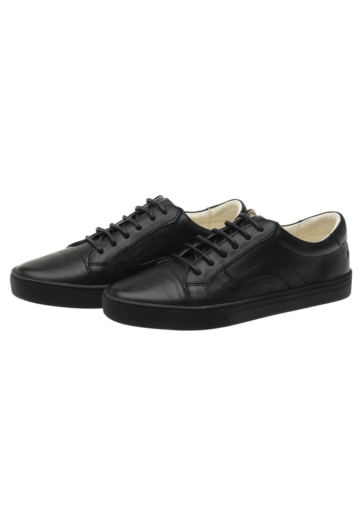 Sneaker Female Squeaky Leather Biodegradable Black