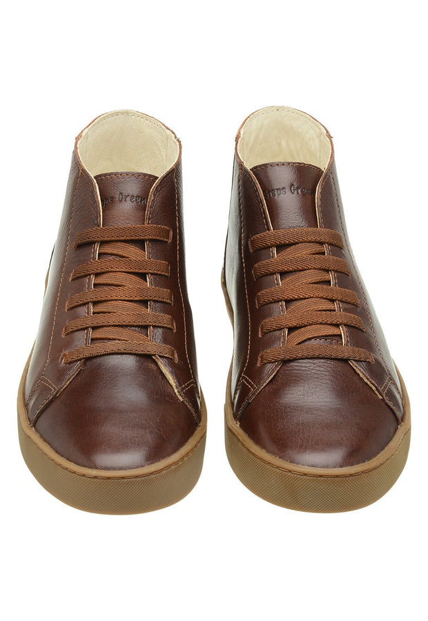 Sneaker Female Torquay Leather Pipe Down Brown