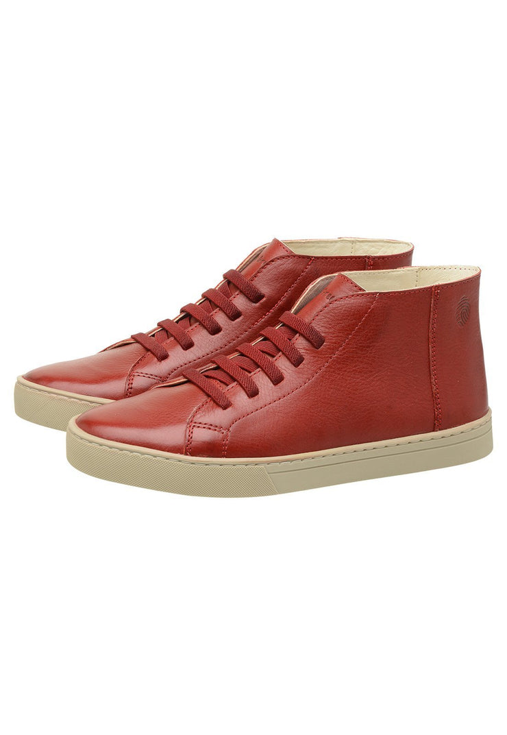 Sneaker Female Torquay Leather Pipe Down Red
